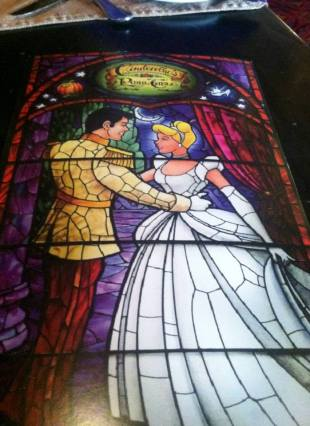Cinderella's Royal Table Stained Glass