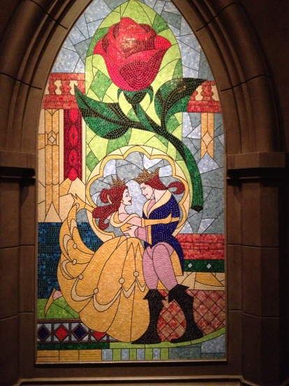 Tile mosaic at Be Our Guest